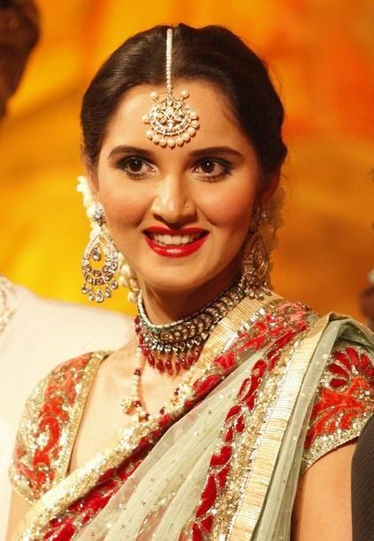 sania mirza her wedding reception soahib malik