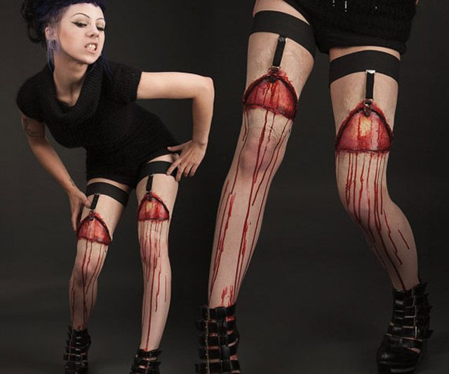 Flayed Flesh Garters... very cool for a halloween costume!