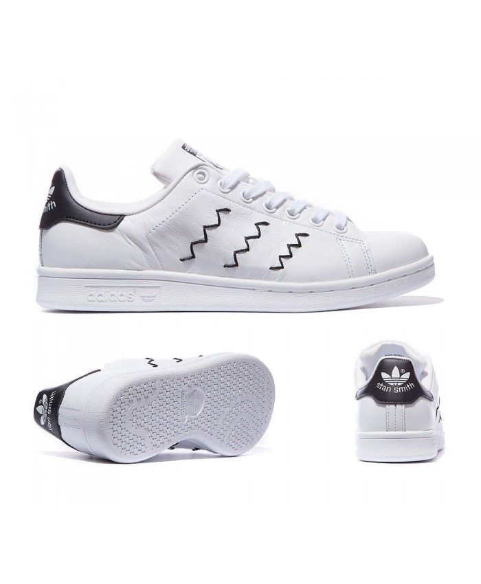 newest collection 8b4b5 98599 Adidas Originals Zig Zag Stan Smith White And Black Trainers Sale UK