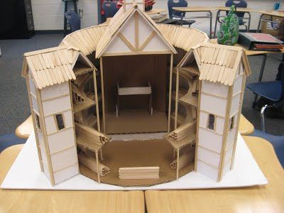 globe theatre model popsicle sticks - Google Search