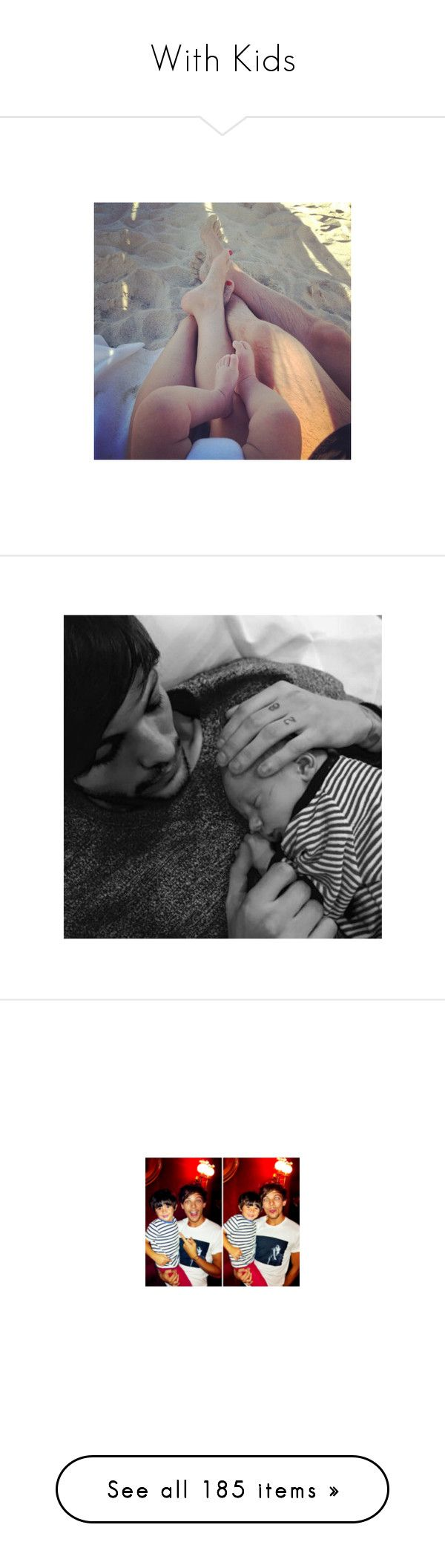 """With Kids"" by dudapamphiro02 ❤ liked on Polyvore featuring pictures, kids, family, instagram, one direction, louis, louis tomlinson, baby lux, babys and larry"