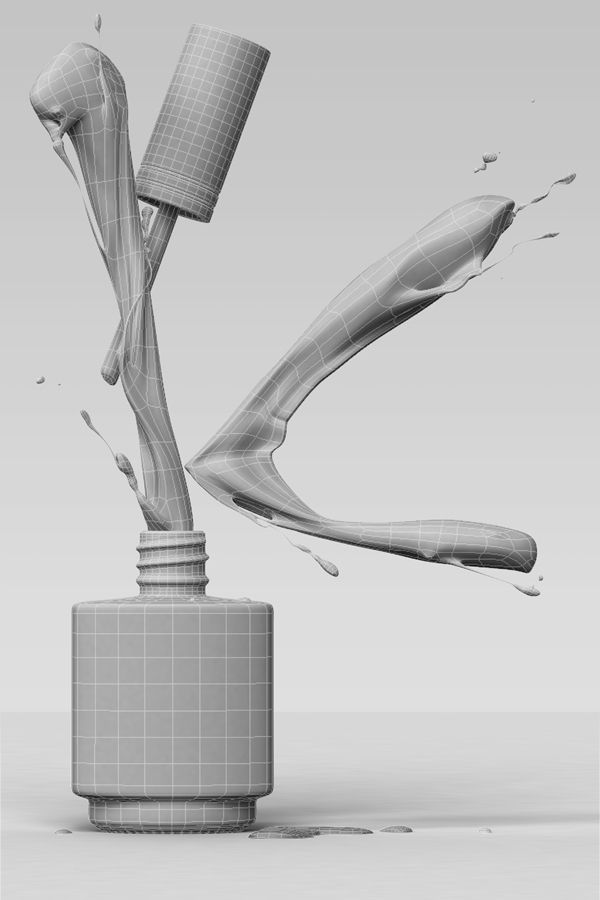 3D Kinetics Nail Polish Splash - Advertising Imagery on Behance