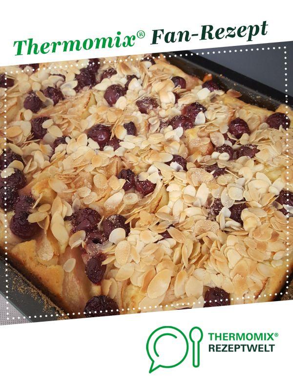 Apfel Kirsch Blechkuchen Rezept Blechkuchen Rezepte Und Lebensmittel Essen