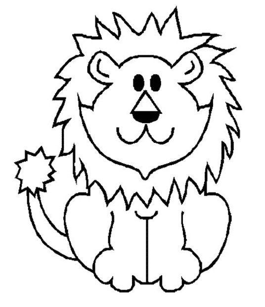 Coloriage Lion à colorier - Dessin à imprimer   Omalovánky