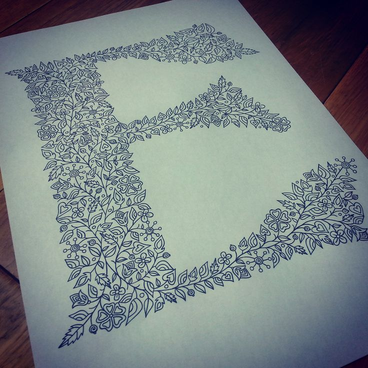 Letter E illustration for colouring book by Suzy Taylor