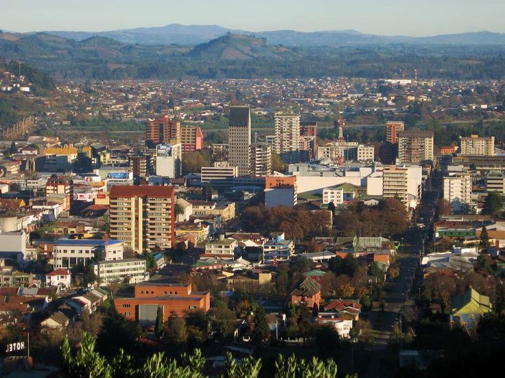 Temuco, Chile.  City Skyline.