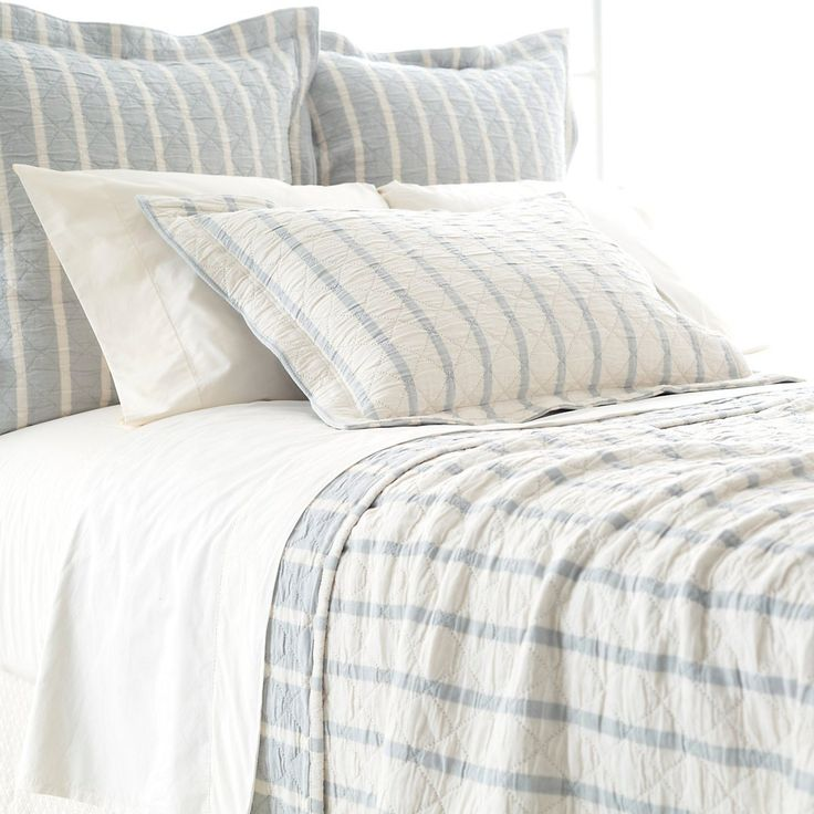 Wainscott Sky Reversible Matelassé Bedding design by Pine Cone Hill