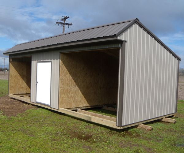 Sheds And Shelters : Derksen horse run in shed with tact room visit