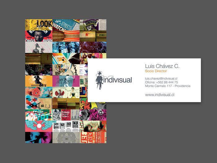 Tarjetas de presentación, linea gráfica corporativa, para agencia de diseño Indivisual