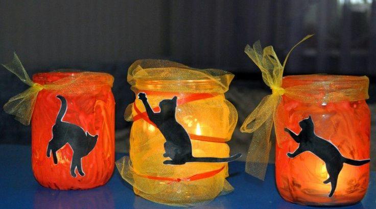 Подсвечники-фонарики из баночек от детского питания