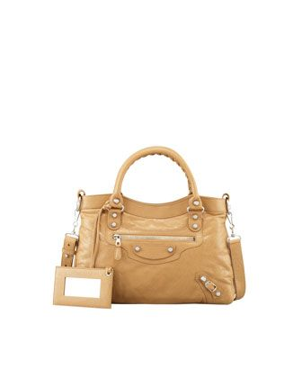 Giant+12+Nickel+Town+Bag,+Beige+by+Balenciaga+at+Neiman+Marcus.