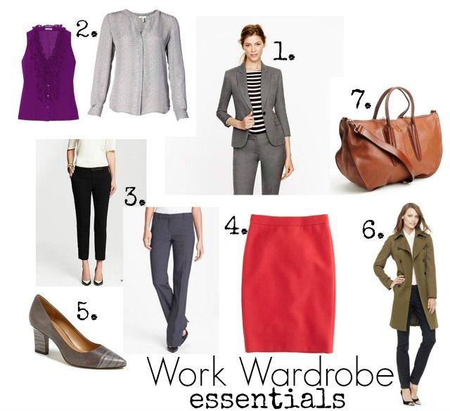 Building a Remixable Work Wardrobe Series Part 3; Work Wardrobe Essentials