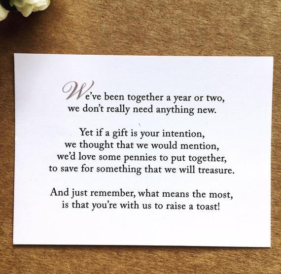 Wedding Invitation Poem For Money Honeymoon Poem Card Gift Etsy Wedding Invitation Poems Wedding Gift Money Money Poem