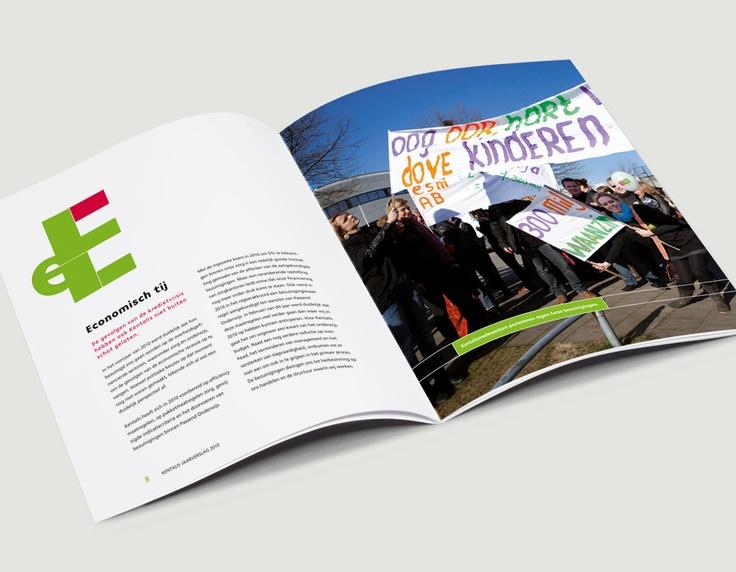 Binnenwerk jaarverslag 2010, Kentalis / jaarverslagenontwerp / 2011 - Ontwerp door Cascade - visuele communicatie Amsterdam