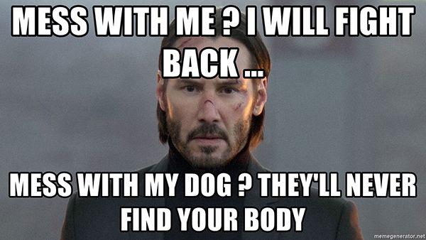 30 Hilarious John Wick Memes John Wick Meme Keanu Reeves John