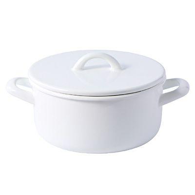 ホーロー両手鍋 フタ付・2.6L