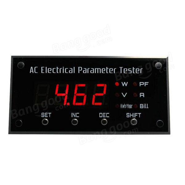 EPM1100 Digital Energy Meter Electrical Tester Voltage/Current/Power Factor/Power/Annual Energy Consumption/Annual Electricity Bill Tester