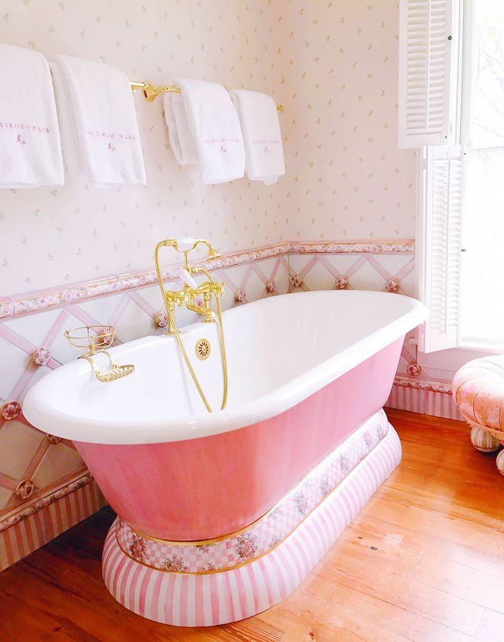 mackenzie-childs-pink-hand-painted-bathtub