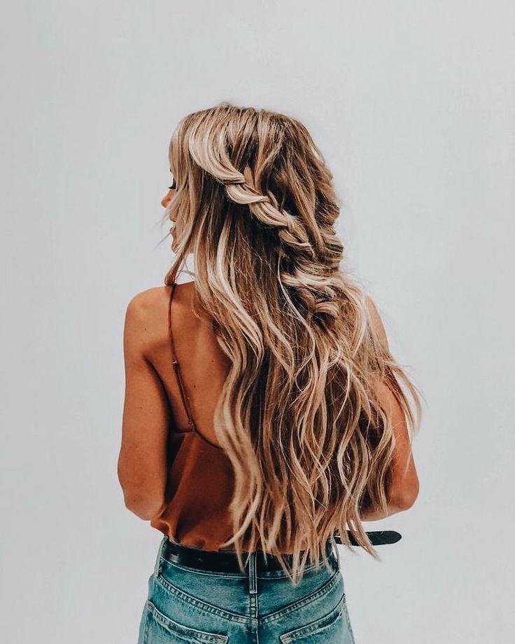 #braid // braided hair // pretty hair // summer hair // hairstyle
