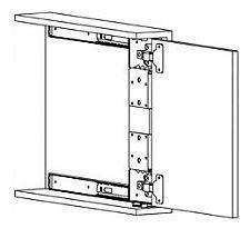"""Knape and Vogt 8070PEZEB22 - 22"""" (559mm) Pivot Door Slides - PAIR - The Hardware Hut"""