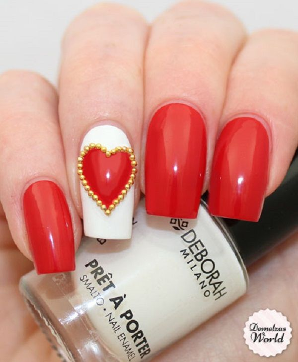 Best 25 red nail art ideas on pinterest red nails red nail 55 hottest red nail art ideas prinsesfo Image collections