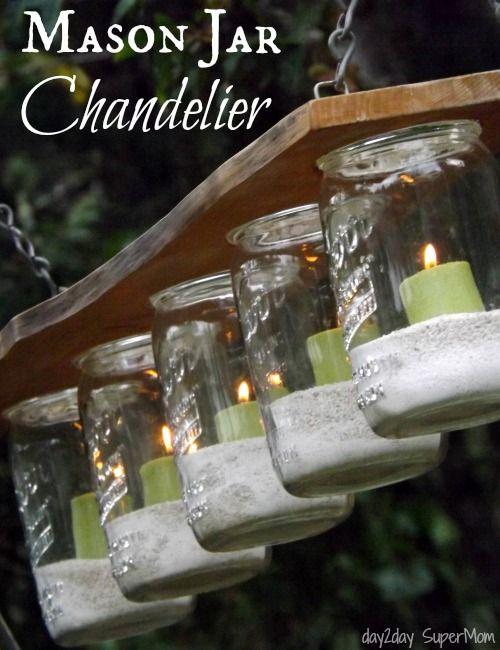 Mason Jar Chandelier ~ DIY Friday