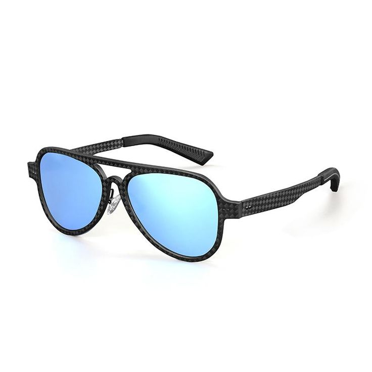 Carbon Fiber Sunglasses - Black-Red-Gold-Blue-Silver-Green