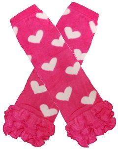 Pink Leg Warmer with White Hearts 303  http://hugsnkissesshoppe.com/category/all.htm