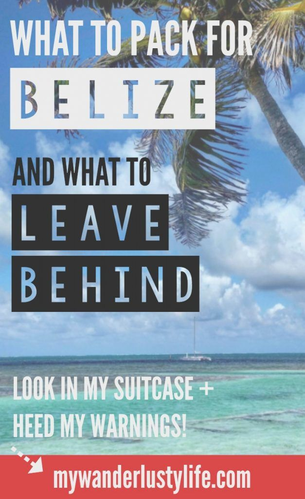 What I learned about packing for a trip to Belize... after I returned from Belize. Here's an in-depth post on what to pack for Belize (and what I can't belize I brought!)... Check out my packing list for the jungle, the islands, snorkeling, adventure, and heed my warnings! ⇣⇣⇣