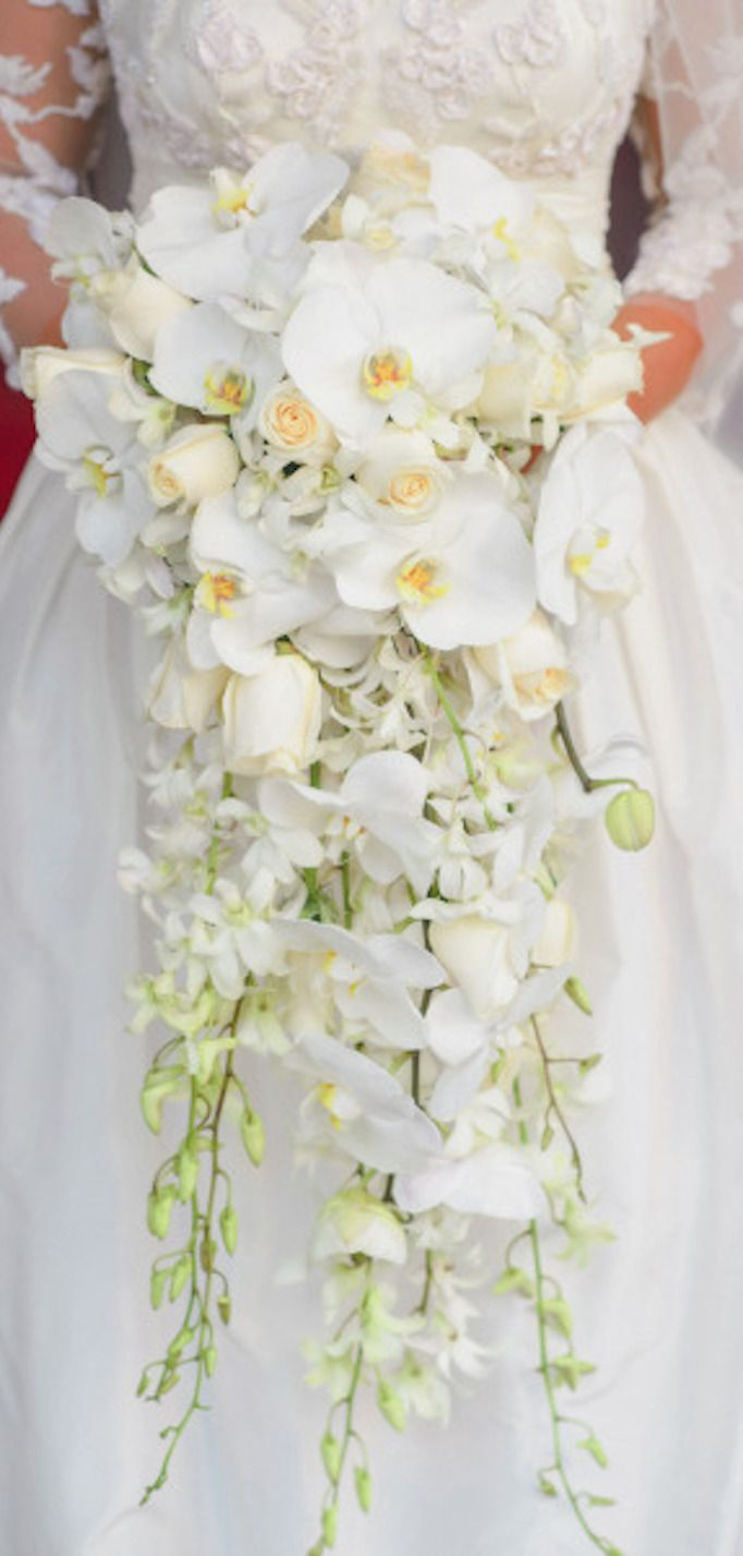 Wedding Bouquets Roses And Orchids : Ideas about cascading wedding bouquets on