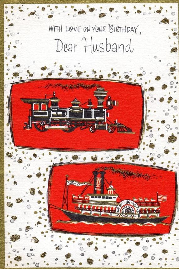 89 best vintage birthday greeting cards images on pinterest birthday card to husband partner mica glitter train boat 300 via etsy husband birthday cardsmens cardsgreeting m4hsunfo