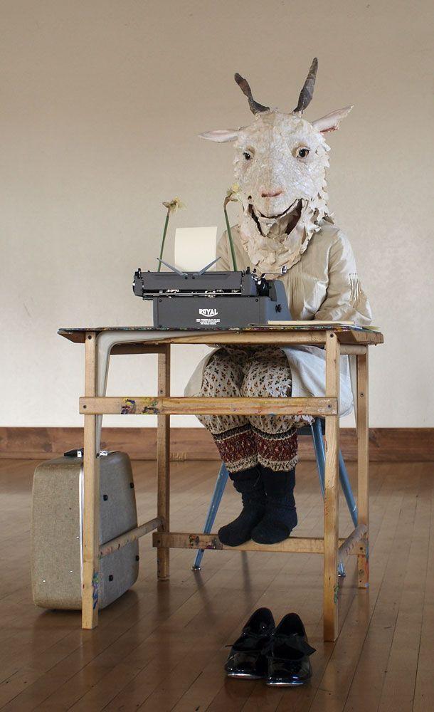 Billy Goat - Mask Workshop with artist Michelle Lassaline ... 2014.
