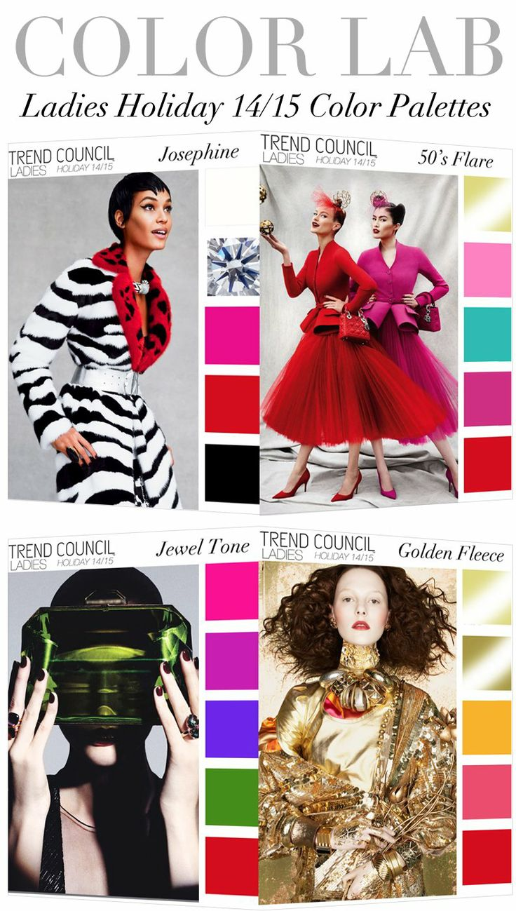 Future fashion trends 2014 - Trend Council Holiday 2014 Ladies Color Palettes