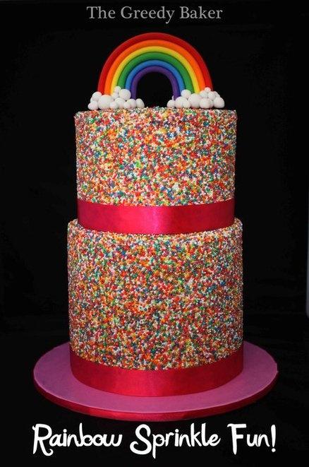 Rainbow Sprinkle Cake by The Greedy Baker.