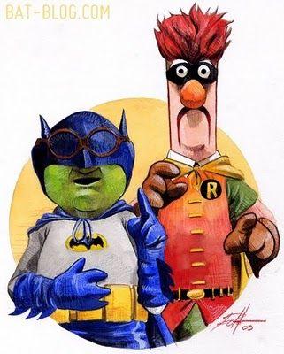 Muppet Batman and Robin!