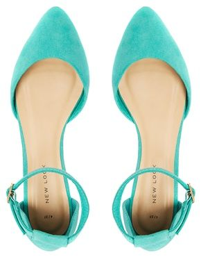 New Look | New Look Kuzzle Mint Green Two Part Strap Flat Shoes at ...