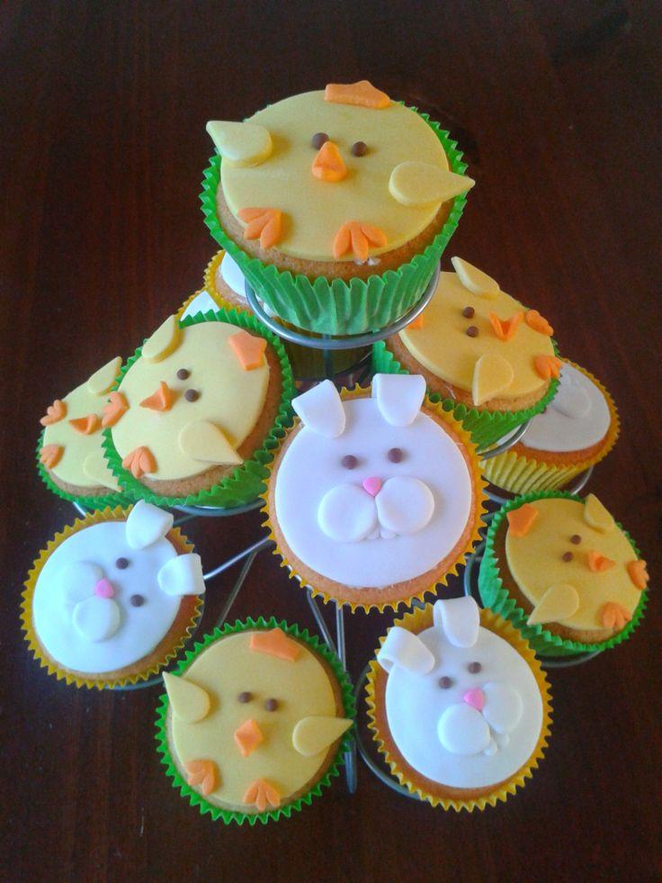 Marjolein's taarten avontuur: Paas cupcakes voor mama