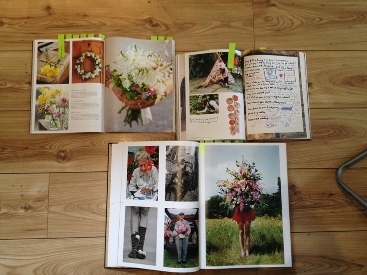 """""""NATIONAL TRUST PROJECT - FLOOR MOODBOARD!""""  This selection of magazines/books has provided me with inspiration for the first poster, which I want to be fun and muddy! See the next post for my sketches and image ideas."""