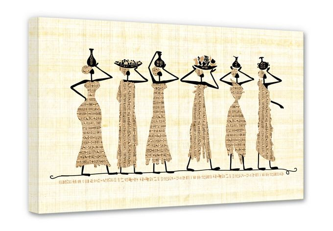 Canvas Egyptische Vrouwen - wall-art.nl