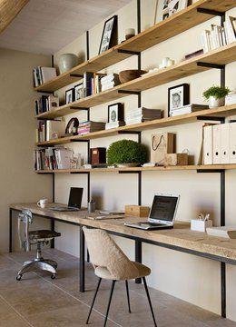 #homeoffice #bookshelves simple, clean, chic