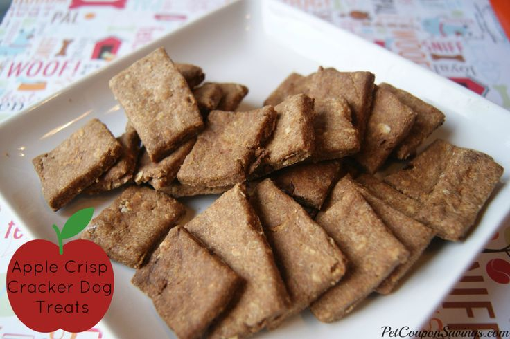 Homemade Apple Crisp Cracker Dog Treats Ingredients:  2 ½ cups whole wheat flour ½ cup quick cook oats 1 apple 1 egg 1/3 cup coconut oil 1 T...