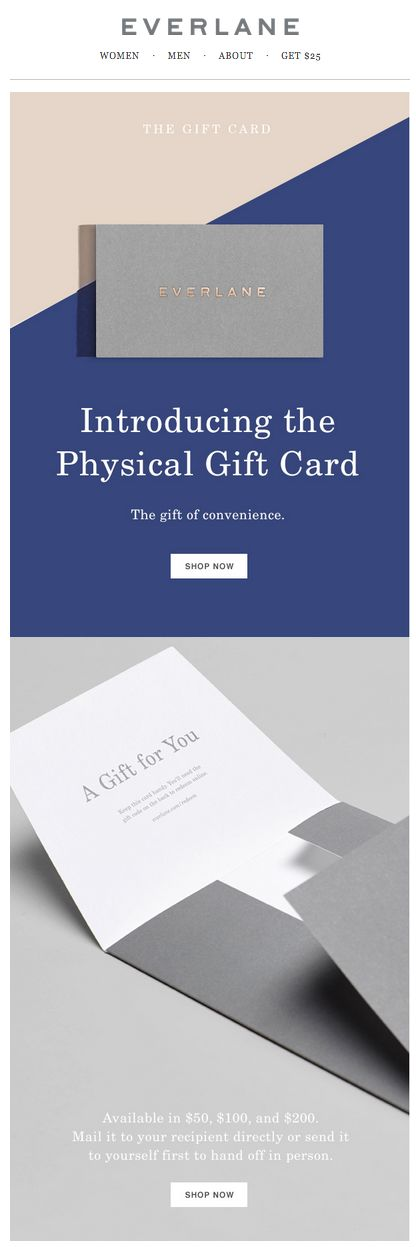 everlane. subject line: so you know it'll fit. holiday gift idea email. simple design.