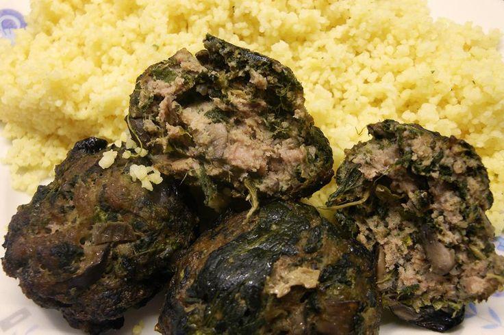 Μπιφτέκια με σπανάκι και μανιτάρια   Μυρωδάτα Φουρνίσματα - Smells Like Baking