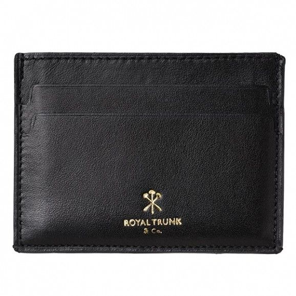 Royal Trunk Mens Cardholder Black Leather