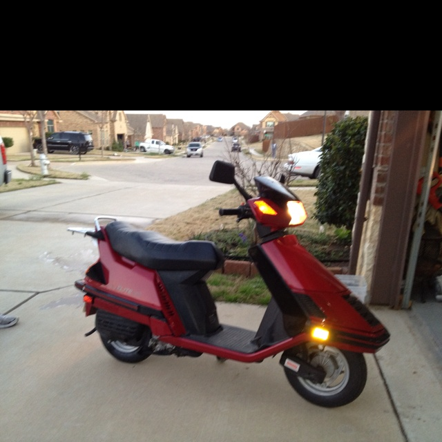 """One of """"my rides"""" 1985 Honda Elite 150 My """"Harley"""" :)"""