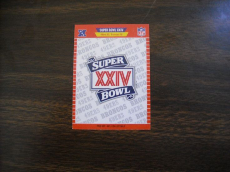 1990 National Football Card Pro Set Super Bowl XXIV Card 49ers vs Broncos (FBXXIV) - for sale at Wenzel Thrifty Nickel ecrater store