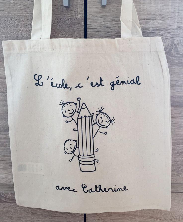 Tote Bag cadeau maitresse.....personnalisable + cocarde