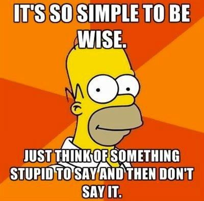 it's so simple to be wise