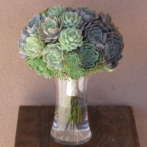 <3  bouquet with Echeveria hybrid 'Perle von Nurnberg', Echeveria shaviana 'Truffles', Echeveria 'Pollux', Echeveria minima, Echeveria hybrid 'Lola', Echeveria derenbergii 'Painted Lady', Echeveria 'Ramillette', Echeveria 'Allegra', Graptoveria amethorum and seeded eucalyptus