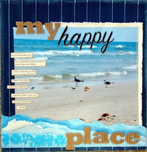 my happy place scrapbooking layout